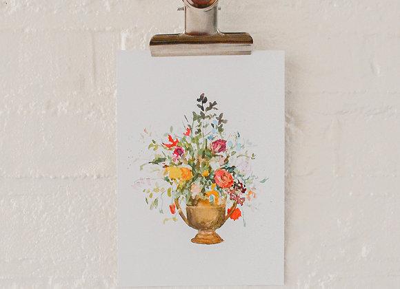 Flowerpot   postcard