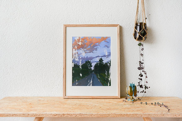 The Briefest Moment Of Time-Travel| Framed gouache original