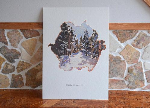 EMBRACE THE QUIET | fine-art print
