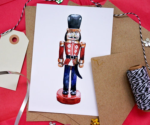 Nutcracker   illustrated postcard
