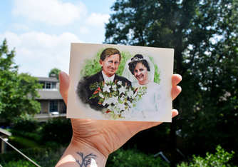 40th wedding anniversary watercolor invitation (2018)