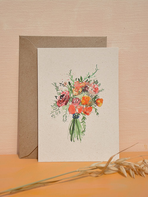 I bought you flowers | postcard