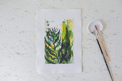 BioOrganic | Gemengde technieken op papier, origineel werk