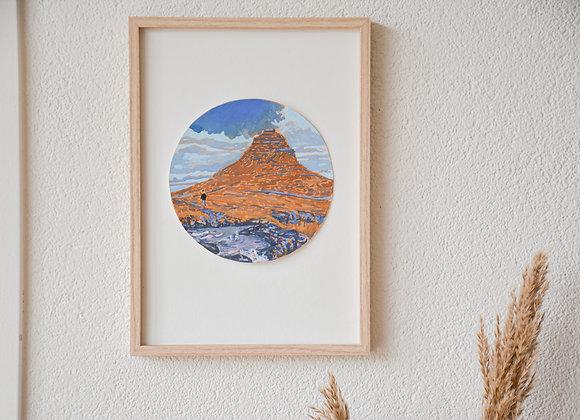 Near the famous mountain | gouache original