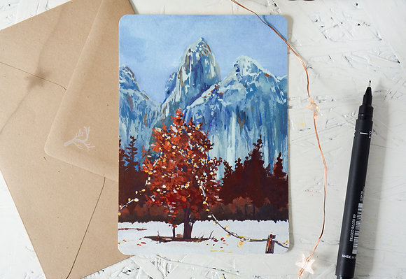 A secret celebration   fine-art postcard