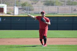 Ji-Man Choi fielding practice