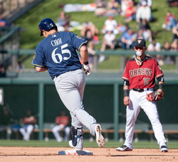 Ji-Man Choi with the Brewers