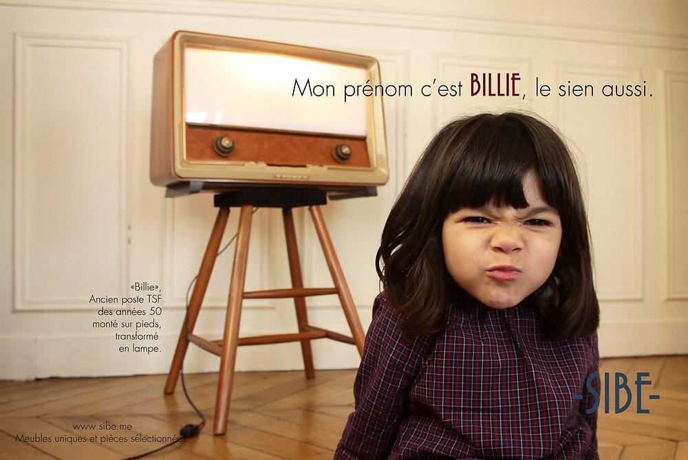 Mon prénom c'est BILLIE, le sien aussi.