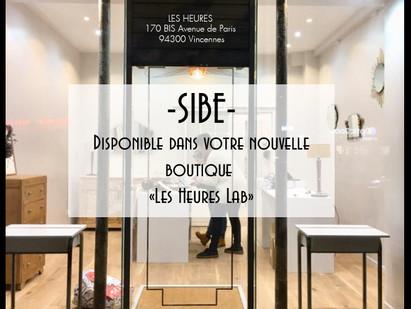 """-SIBE- Disponible à la boutique """"Les Heures Lab"""" de Vincennes."""
