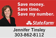 70.125 x 48 State Farm Sign Jennifer cop