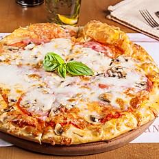 Піца з шинкою і грибами