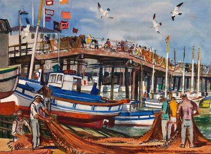 Millard Sheets: Fisherman's Wharf, San Francisco