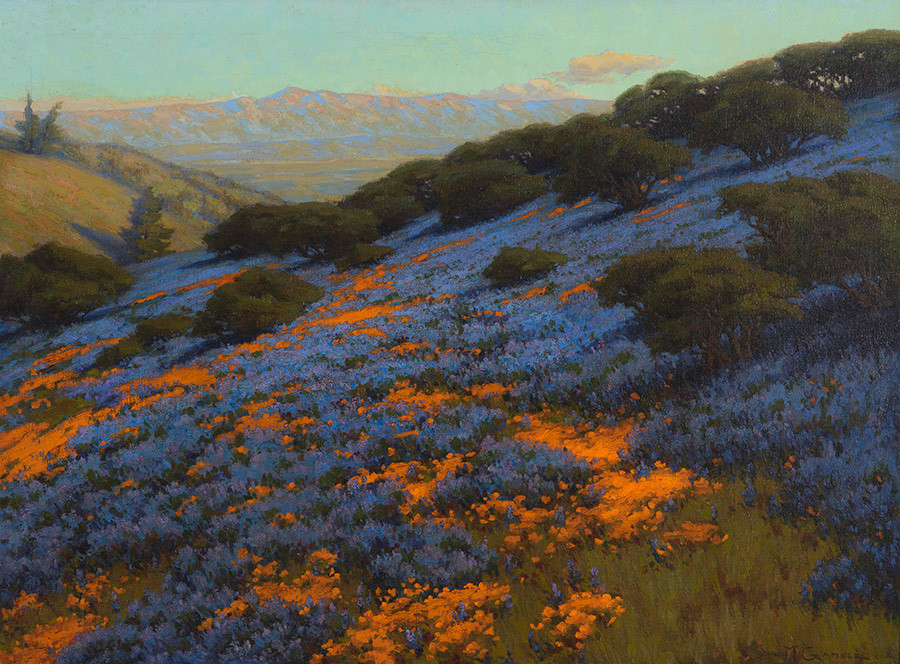 "John M. Gamble, ""Poppies and Lupines"""