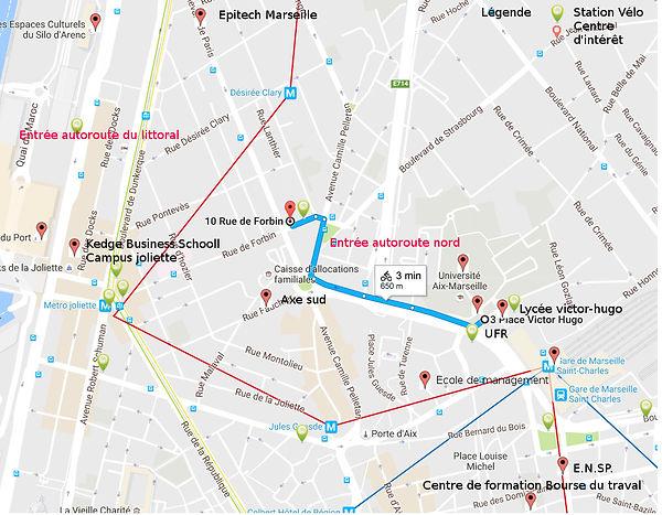 Ecole université gare métro centre d'intérêt euromed st-charles à proximité