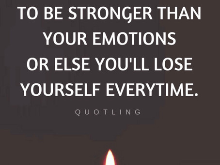 Emotions are Temporary States of Mind, Don't Let Them Destroy You 🙏🏾
