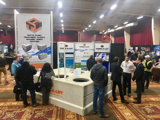 Supporting our distributor out west: Tanks-A-Lot at the AOWMA show!