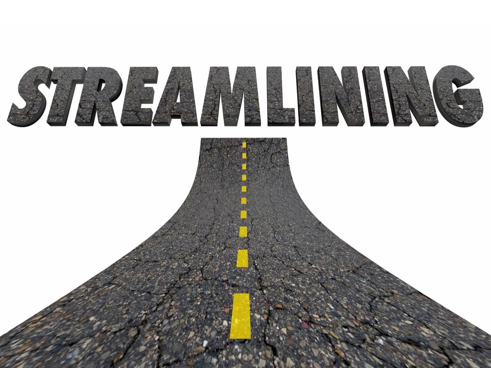 Streamlining Word Road Improve Efficiency 3d Illustration
