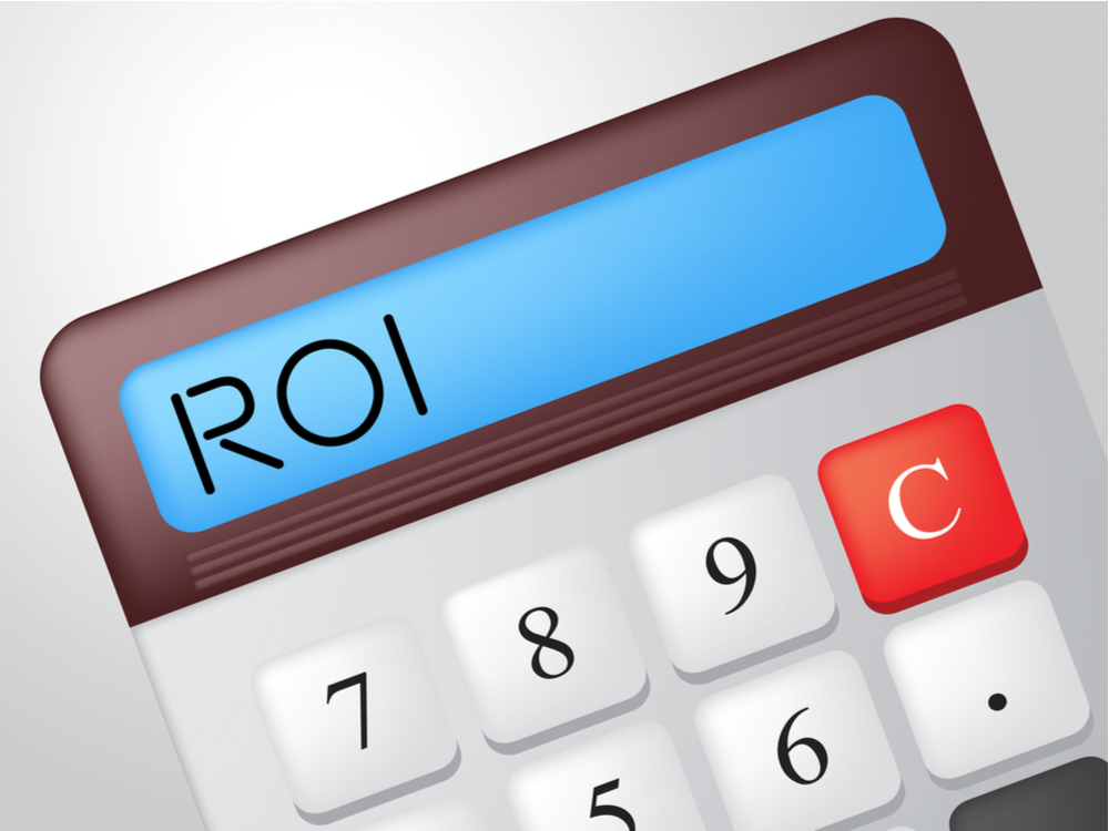 Roi Calculator Indicating Return On Investment And Buy In