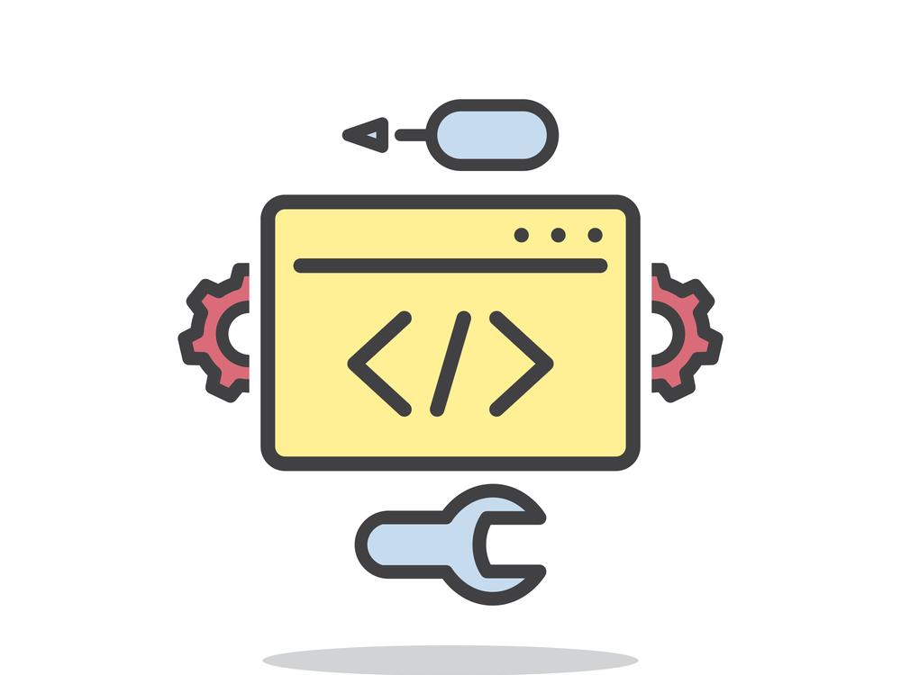 Development vector icon, line symbol on white background - editable stroke vector illustration eps10