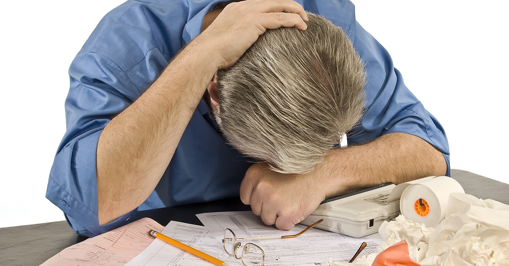 Horizontal Shot Of Man With Tax Troubles   Sales and Use Tax Laws Keep Changing