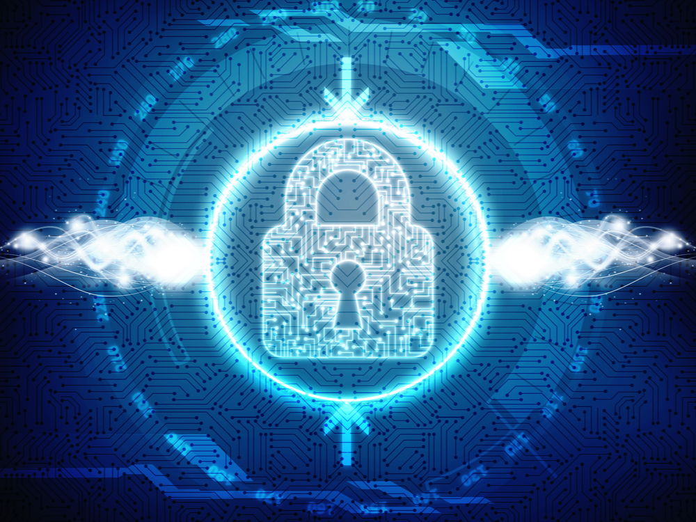 Security concept: Closed Padlock on digital background