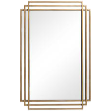 24 W X 37 H X 2 D (in) Decorative Mirror - Only available in this size.