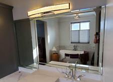 Custom vanity mirror.
