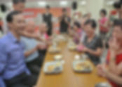 Joint dining for seniors-Mayor Chu parti
