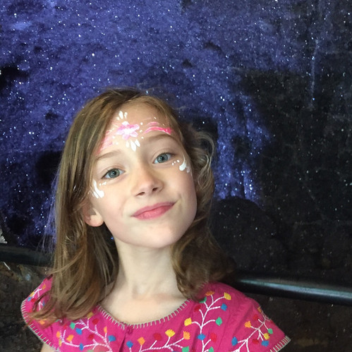 Margaux loving the amethyste cave, at crystal castle... again!