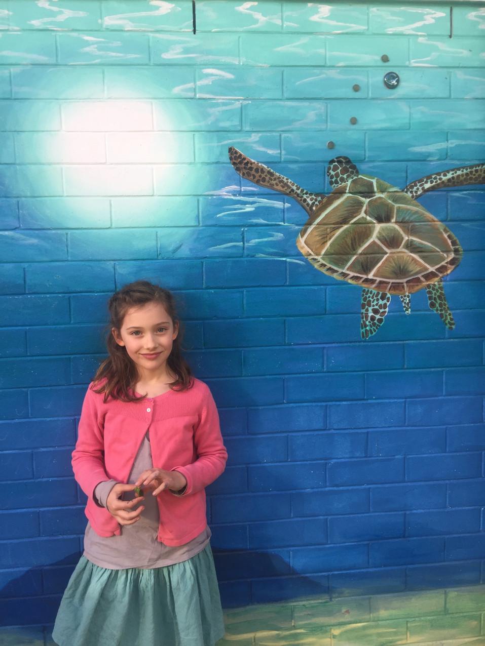 Turtle fresco from Margaux's school...