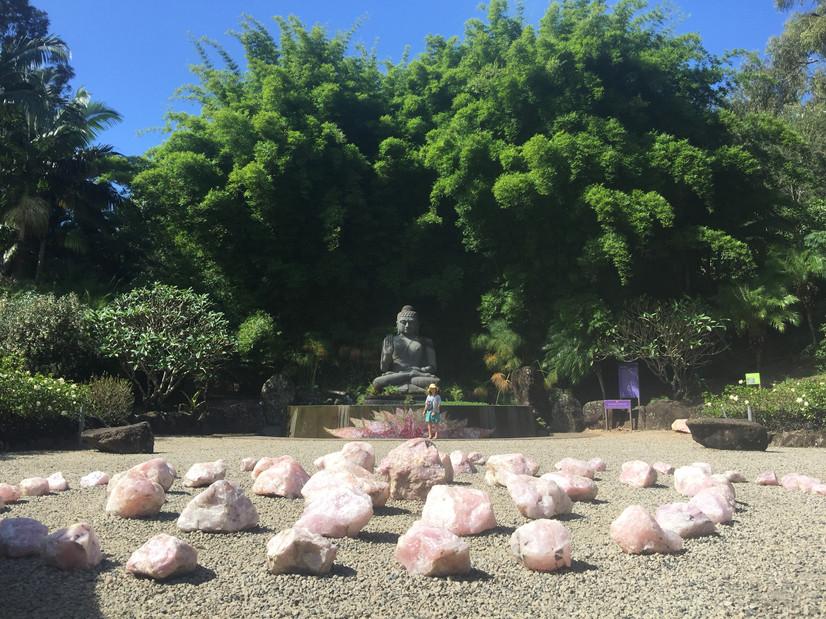 Crystal Castle Buddha's garden