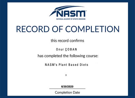 NASM - Plant Based Diets