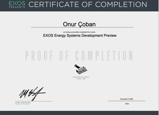 EXOS-Energy Systems Development Preview