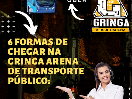 6 formas de chegar na Gringa Airsoft Arena de transporte público: