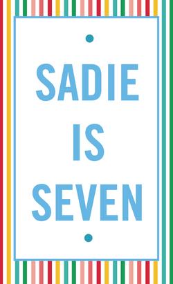 Sadie's Art Themed Birthday