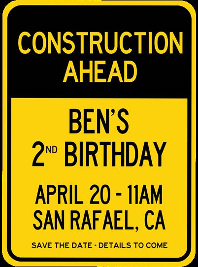 Ben's Construction Birthday