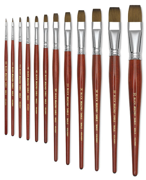 Kolinsky Sable Bright Brushes (0-20)