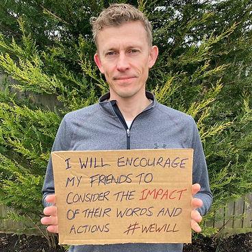 Male #wewill pledge