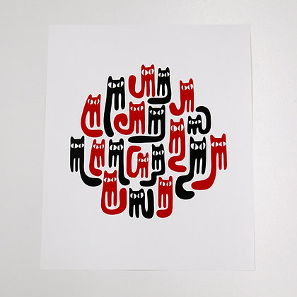PRODUCT | 'Cats' Print | Pete Houser