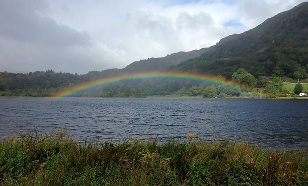 Rainbow over Grasmere Lake