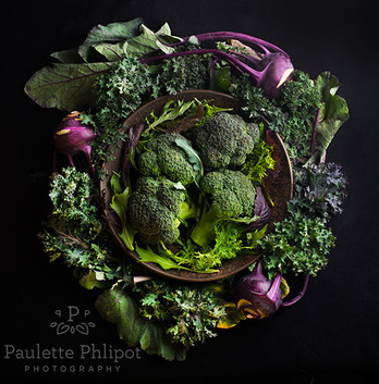 Embracing the purple and greens.