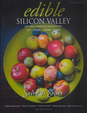 My photograph - cover of Edible Silicon Valley!