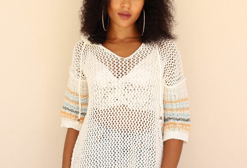 Hooded Sweater Cover Up