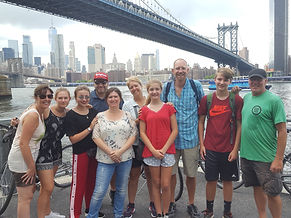 Tour Group under the Manhattan Bridge