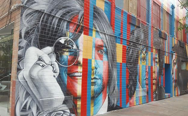 Mural of the @& Club Lower Eastside
