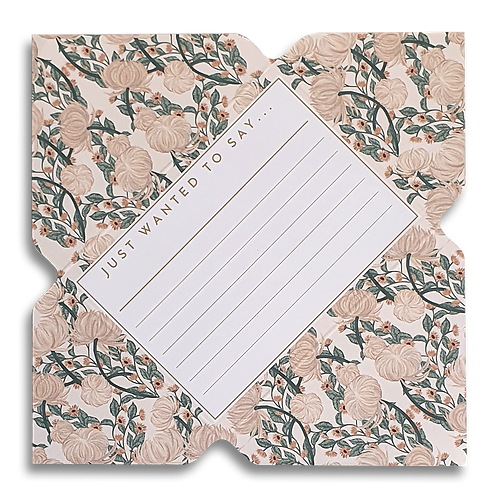 Vintage Floral Telegram Notecard