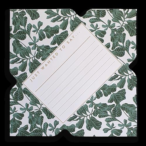 Fiddle Leaf Fig Telegram Notecard