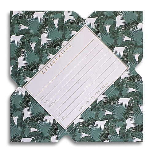 Tropical Foliage Telegram Invitations