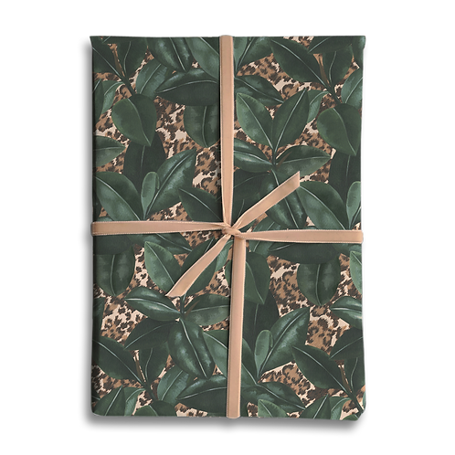 Rubber Plant Animal Print Wrapping Paper