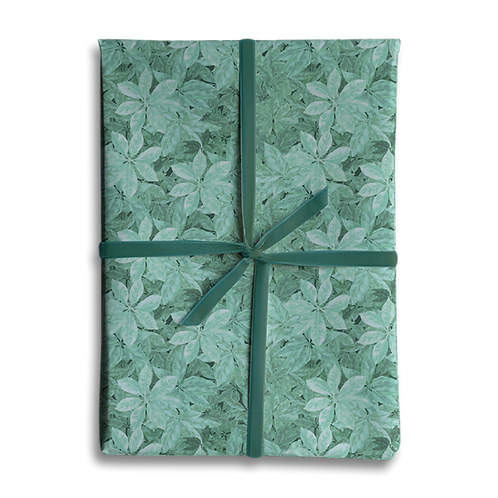Light Green Leaf Wrapping Paper
